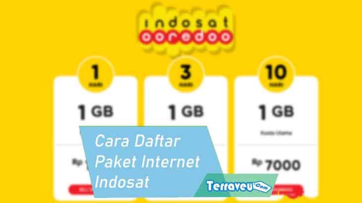 Cara Daftar Paket Internet Indosat 3G / 4G